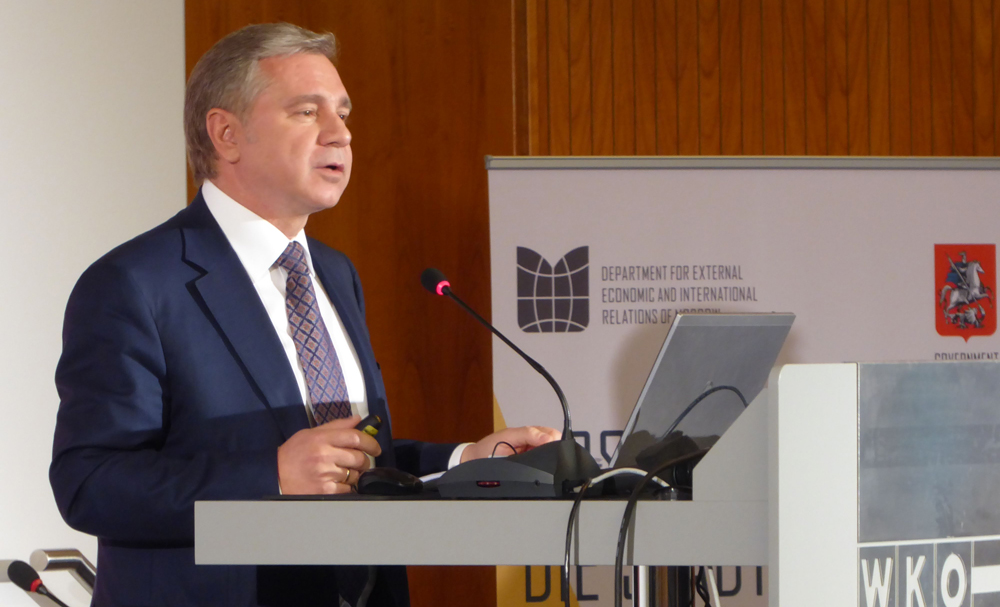 Minister Cheremin betonte das Interesse der Stadt an Investitionen des österreichischen Mittelstandes. Foto: Hubert Turhnofer