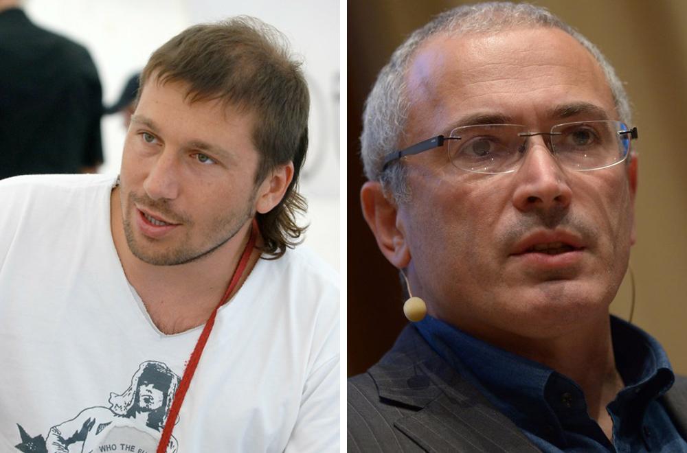 Der frühere Eigentümer des größten russischen Mobilfunk-Einzelhändlers Jewroset, Jewgenij Tschitschwarkin (links), und ein ehemaliger Erdölmagnat Michail Chodorkowski (rechts).
