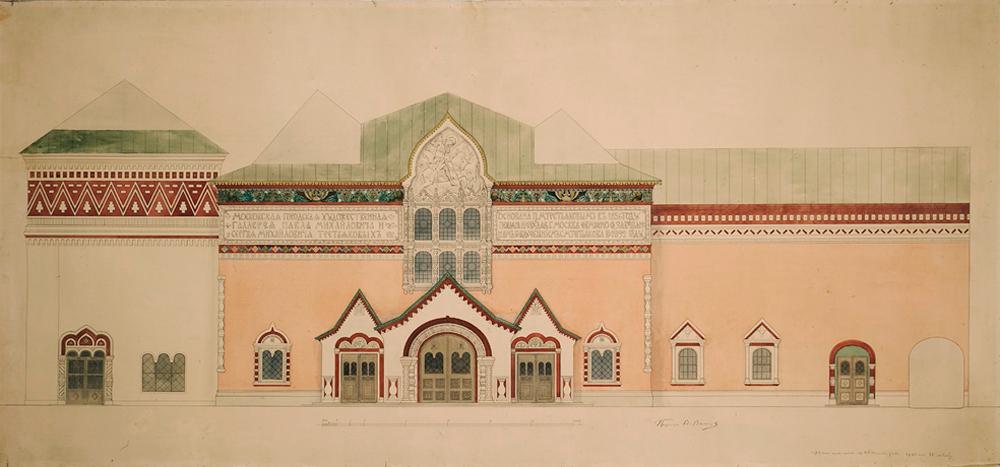 Esquisse de la façade de la Galerie. Crédit ; Archivbild