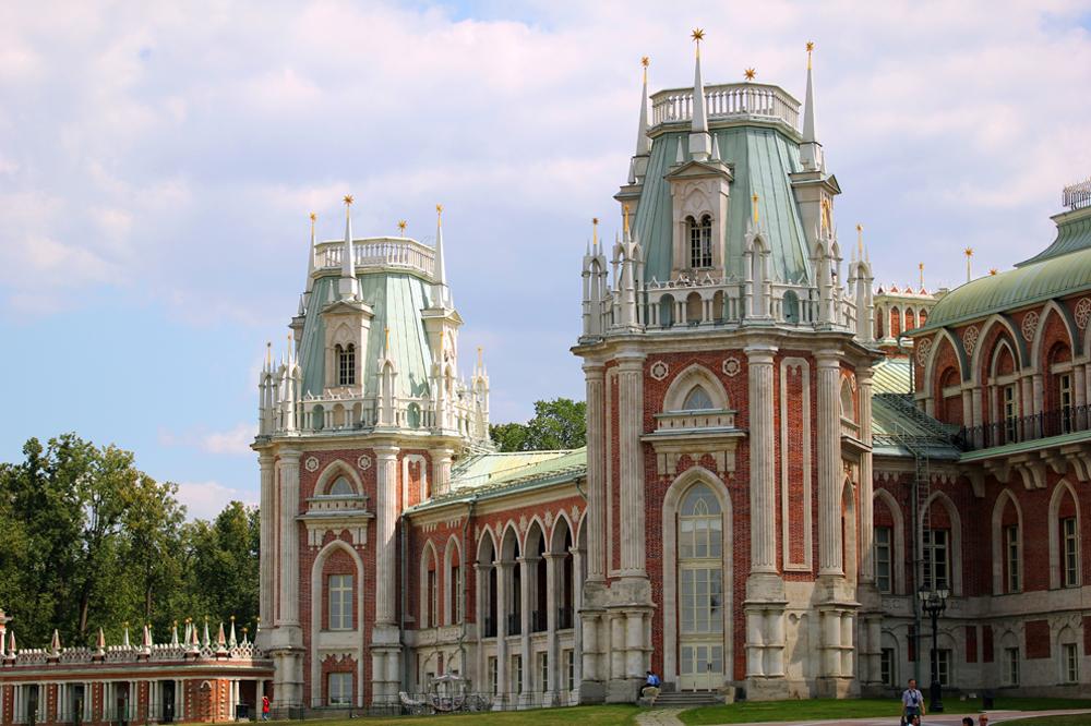 Die Sommerresidenz von Katharina der Großen - heute das Freilichtmuseum Zarizyno.