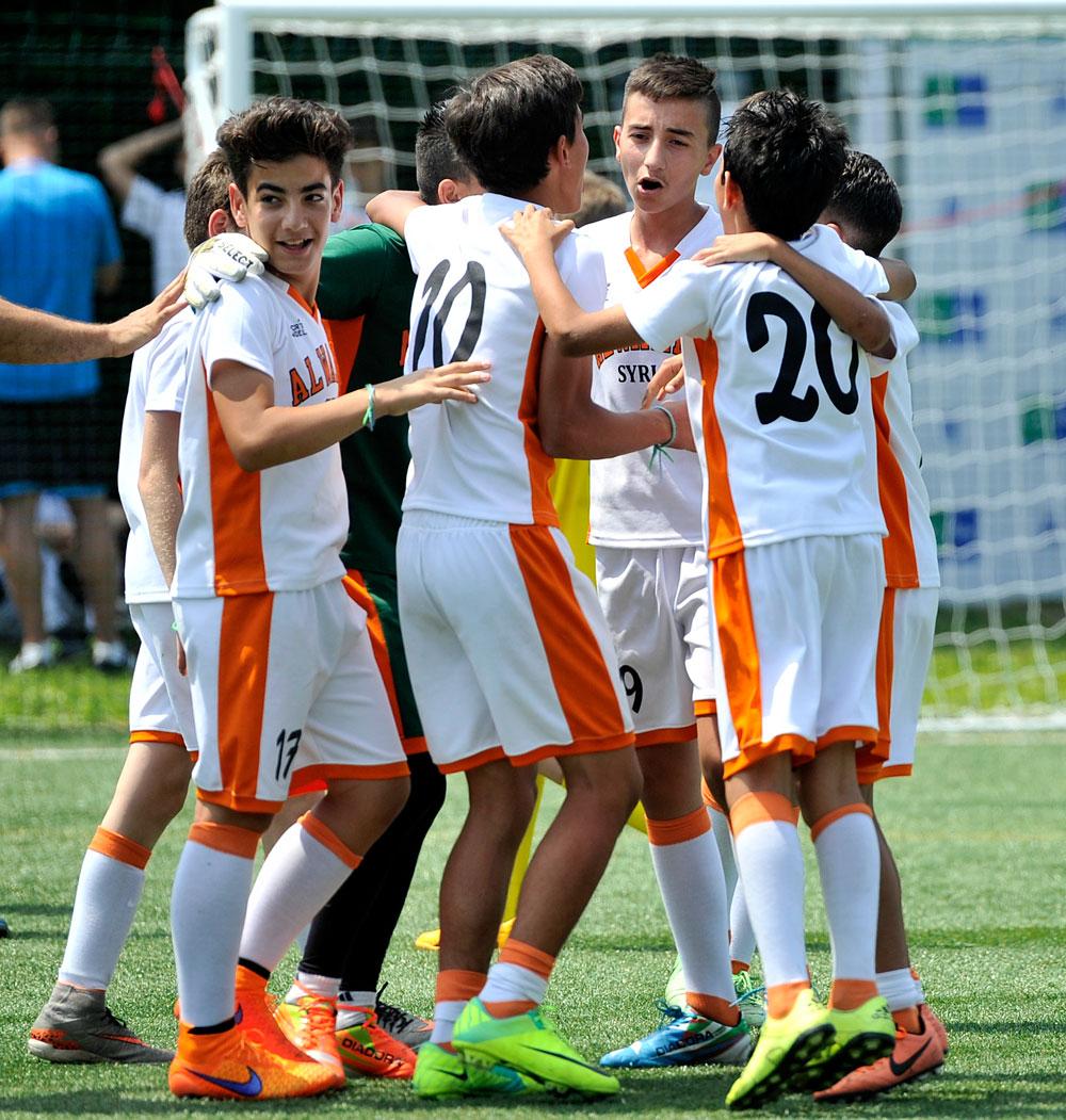 Les joueurs de l'équipe syrienne.
