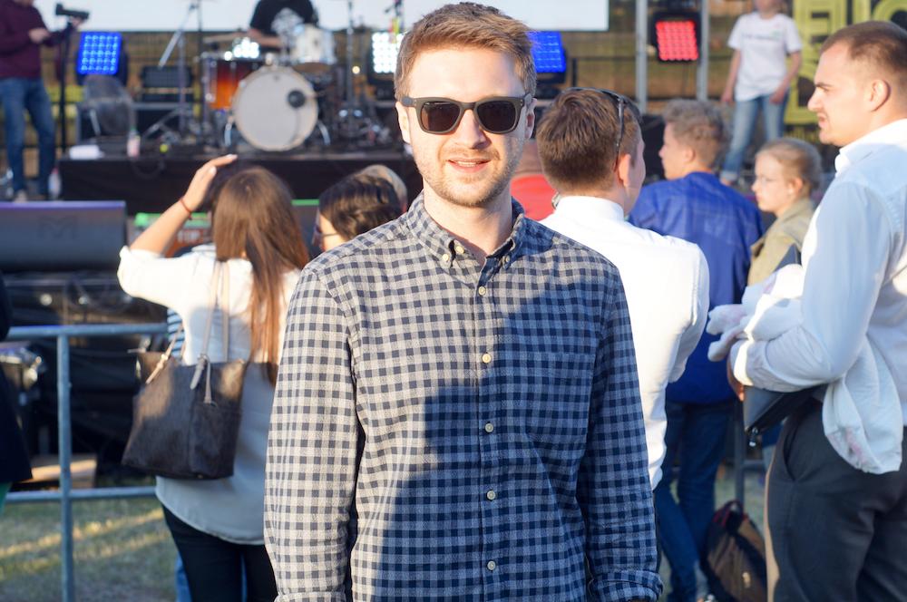 Auch Igor aus Berlin-Friedrichshain fühlte sich sichtlich wohl auf den Festtagen. Foto: Dmitrij Vachedin