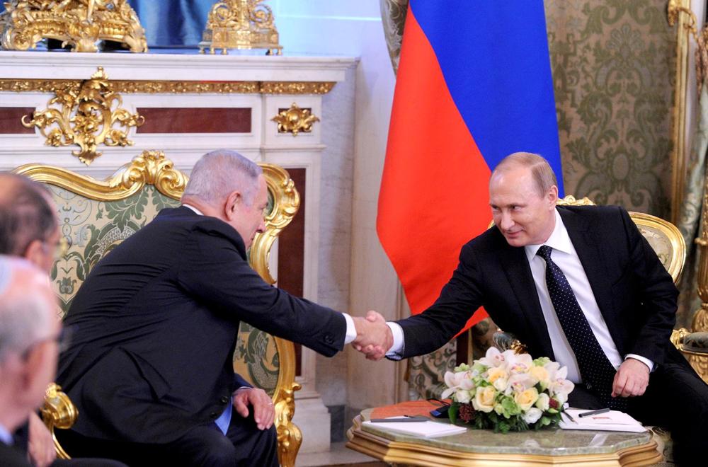 Benjamin Netanjahu und Wladimir Putin.