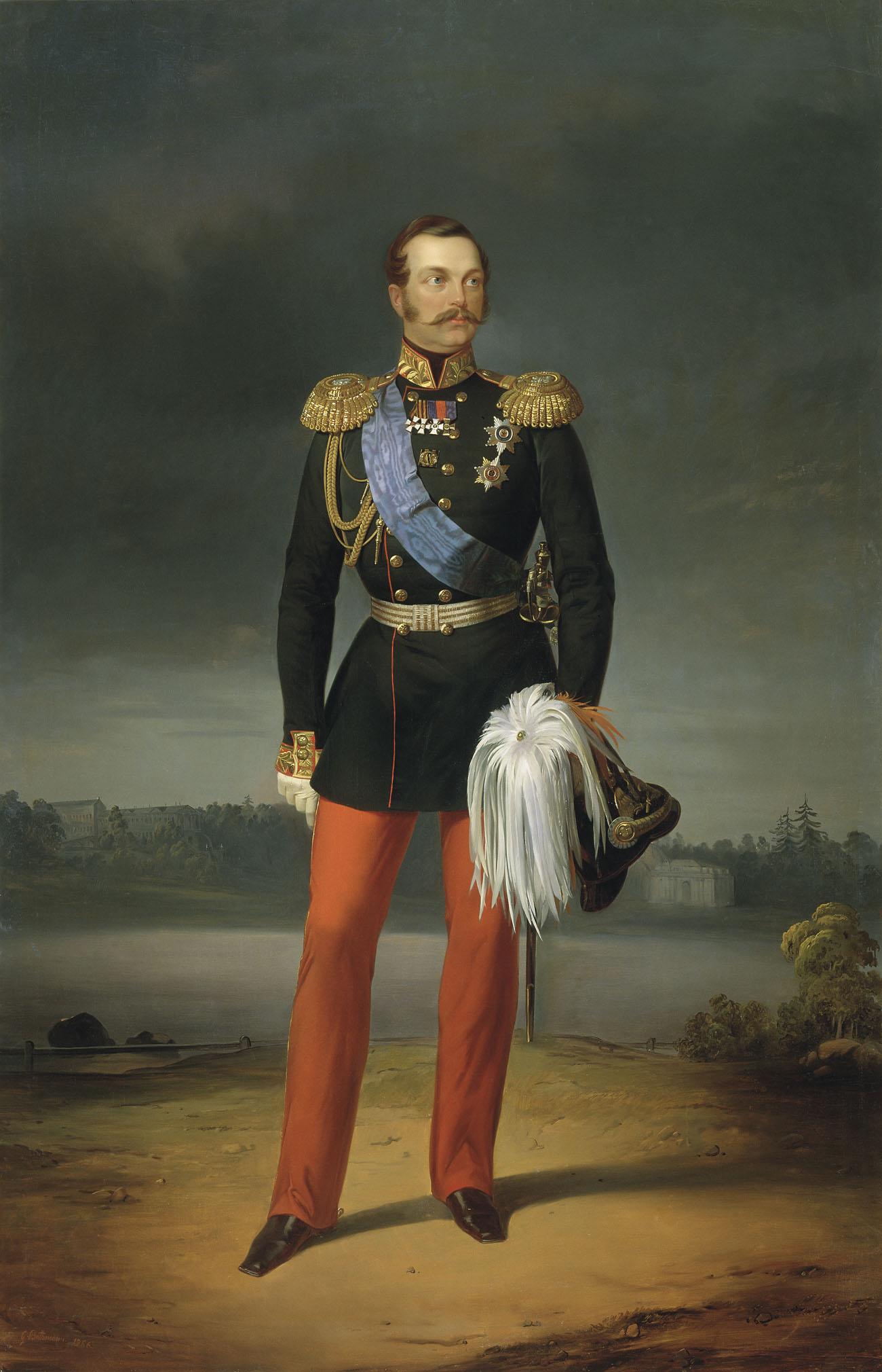 "Јегор Ботман, ""Портрет Александра II"". Руски музеј."