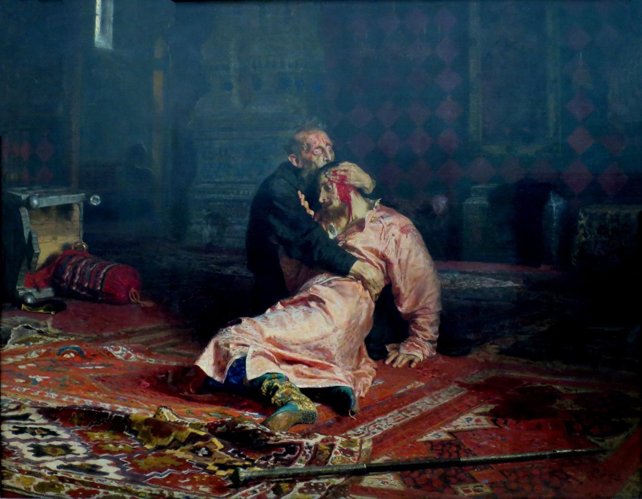 """""""Iwan der Schreckliche und sein Sohn Iwan"""" von Ilja Repin. Bild: Ilja Repin / wikipedia.org"""