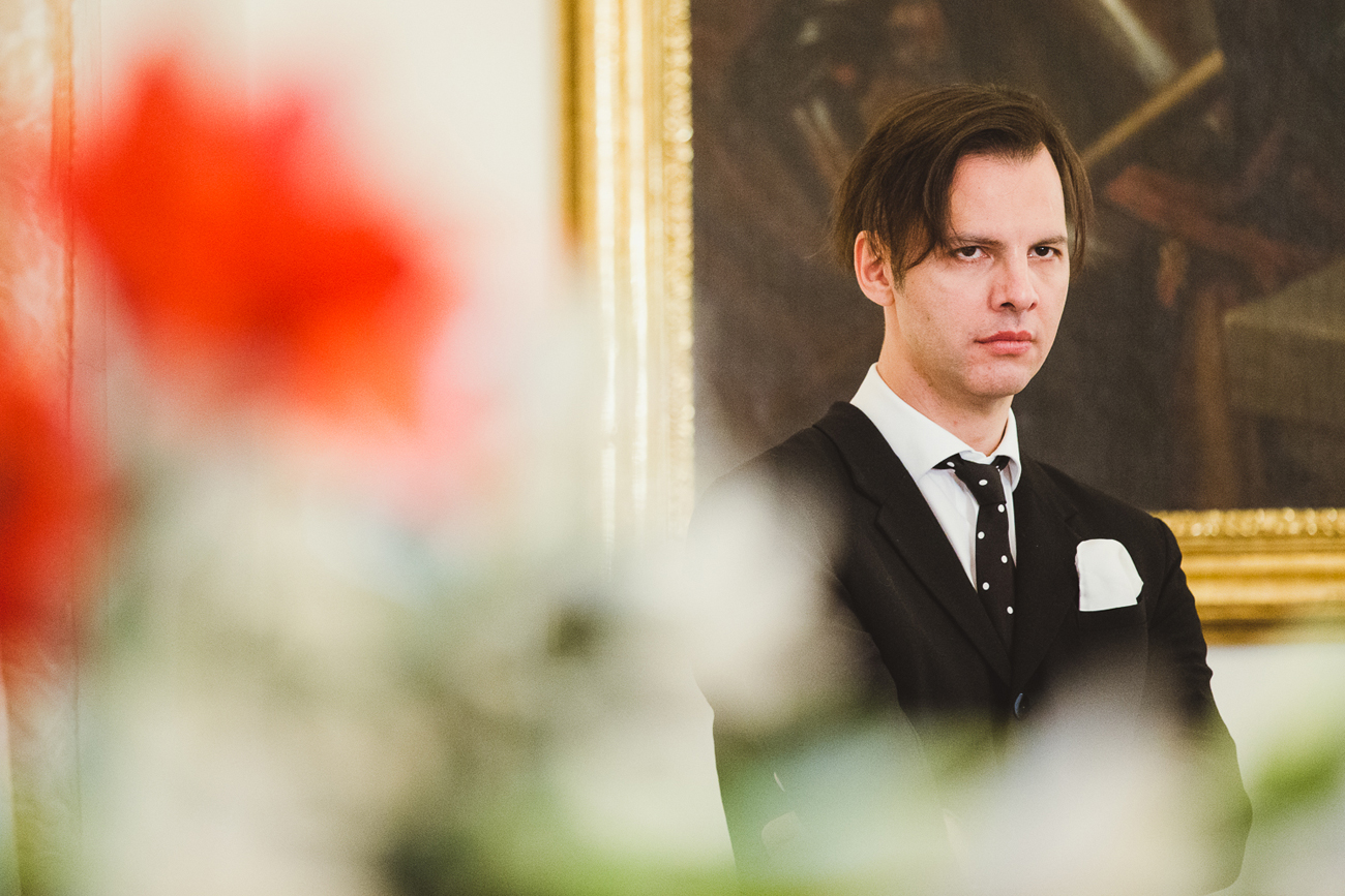 Teodor Currentzis am 16. November auf der Presskonferenz in Moskau.