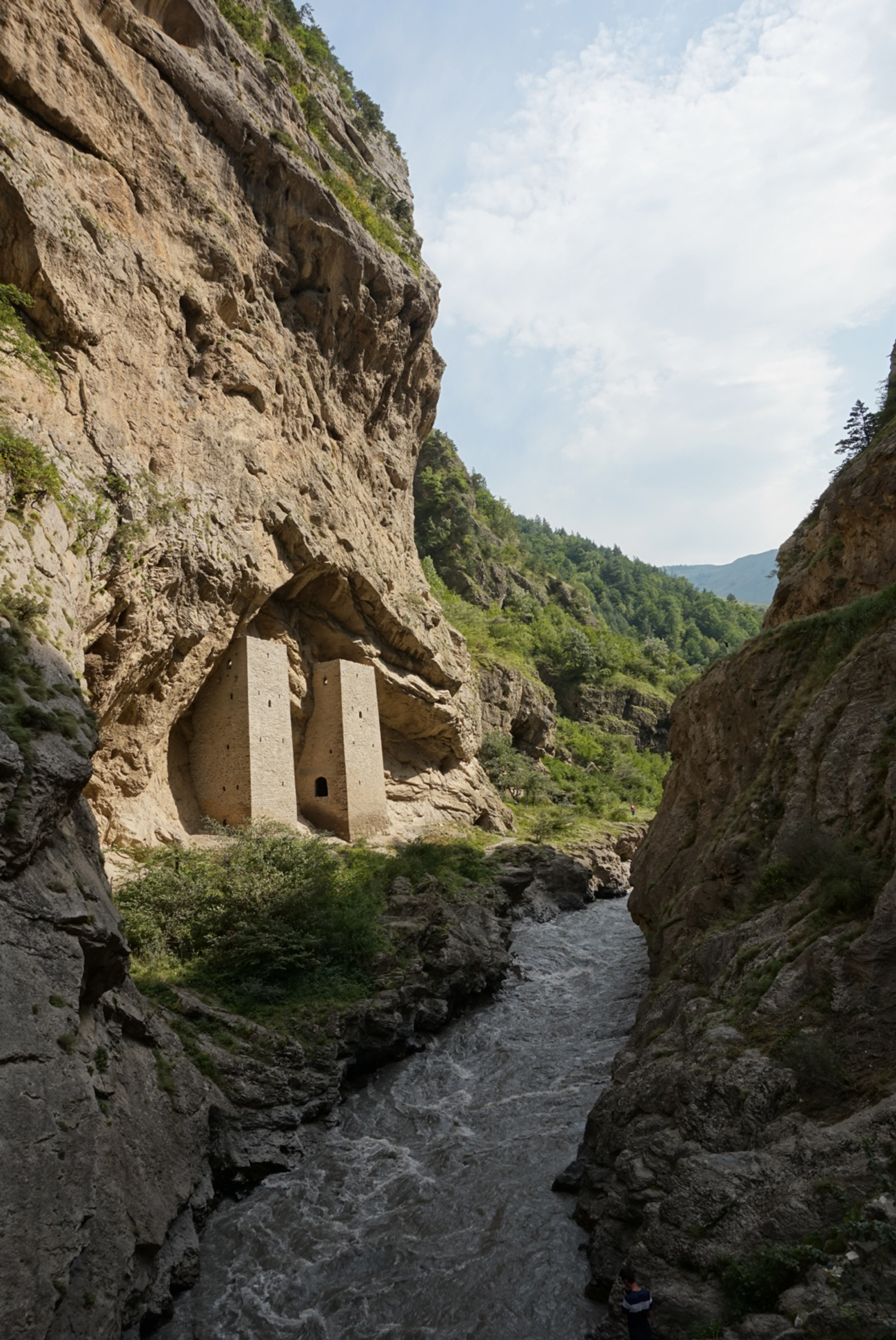 """MIlitary towers in the Argun River gorge built in the end of the 10th - early 11th century. Source: <a  data-cke-saved-href=""""http://www.pictaram.com/user/unknown_caucasus/2533907852"""" href=""""http://www.pictaram.com/user/unknown_caucasus/2533907852"""" target=""""_blank"""">Muslim Alimirzaev</a>"""