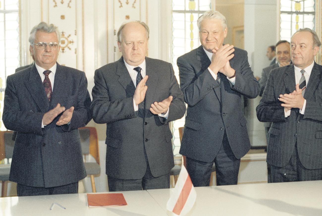 8. Dezember 1991: Im Abkommen von Beloweschskaja Puschtscha wurde die offizielle  Auflösung der Sowjetunion beschlossen. Foto: Jurij Iwanow/RIA Nowosti