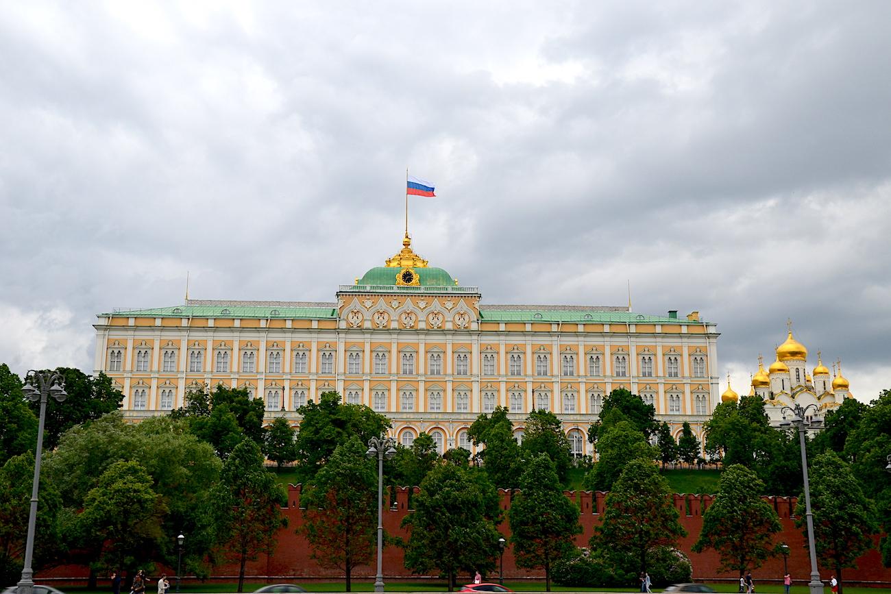 Der Kremlpalast über der Moskwa / Peggy Lohse