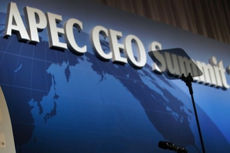 As a country presiding in the APEC, Russia has hosted over 90 events, including ten ministerial meetings.  Source: AP.