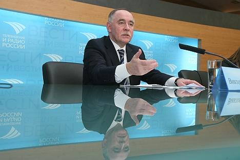 Ivanov alega que a criação de organismo internacional liderado pela Rússia será capaz de lidar com o tráfico de drogas provenientes do Afeganistão Foto: Víktor Vasenin/Rossiyskaya Gazeta