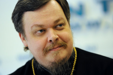 "Archpriest Vsevolod Chaplin, Chairman of the Moscow Patriarchate's Department for Relations between the Church and Society: ""We won't be silent; we will be critical."" Source: RIA Novosti / Vladimir Vyatkin"