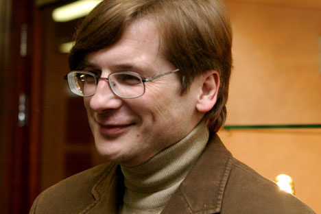 """Russian writer Oleg Zaionchkovsky anthropomorphed Moscow in his latest novel """"Happiness is Possible"""". Source: RIA Novosti / Vladimir Fedorenko"""