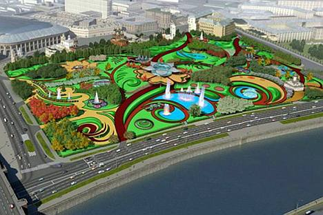 Projects presented for the a competition to build the Zaryadye Park. Source: mka.mos.ru, AFP