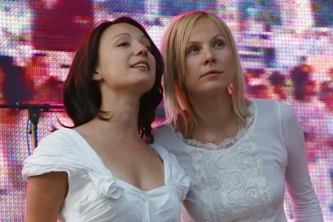 Angels of mercy: Korzun, right, and Khamatova, left. Source: RIA Novosti / Ekaterina Chesnokova