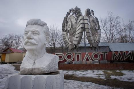 Hard man: a bust of Stalin in the sculpture park at the Museon on Krymsky Val, which also includes six statues of Lenin and one of Sverdlov. Source: Ricardo Marquina Montanana