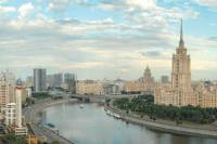 Seven Sisters, emblems of Soviet grandeur, light up Moscow skyline. Brainchild of Stalin, Gothic buildings looms high