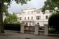 Russian oligarchs come to London. Pictured: The home of Roman Ambrovich in Kensington Palace Gardens, London. Source: Neil Hall / Rex Features