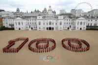 Plans to set the Thames on fire. Celebrations took place across the UK to mark 100 days to go to the London 2012 Olympic Games – including at Horse Guards Parade in central London. Source: Reuters/Vostok-Photo