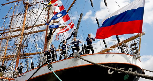 The Sedov ship is about to set out on a 14-month circumnavigation from St. Petersburg. Source: Alamy / Legion Media