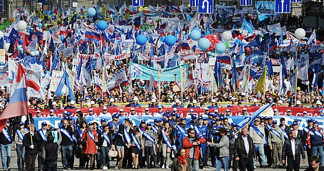 Russia celebrating the Labor Day. Source: RIA Novosti