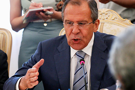 "Lavrov: """"We are not supporting the Syrian government. We are supporting Kofi Annan's plan"" Source: AP"