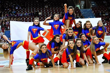 the Russian team Non Stop took first place at the 2011 World Cheer Dance Championship. Source: Press Photo