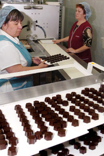The chocolate production at the Confael factory. Source: ITAR-TASS