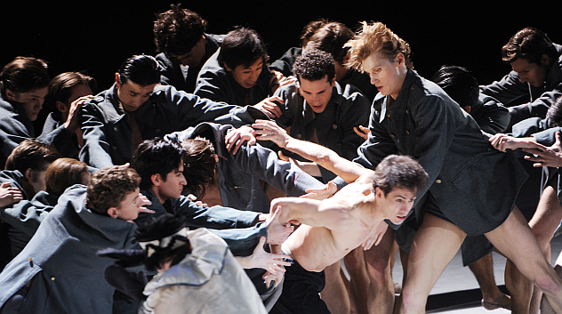 """Moscow, May 6, 2012 - A scene from the ballet """"Nijinsky"""" in John Neumeier's production on the stage of the Stanislavsky and Nemirovich-Danchenko Moscow Academic Music Theater. Source: RIA Novosti / Vladimir Vyatkin"""