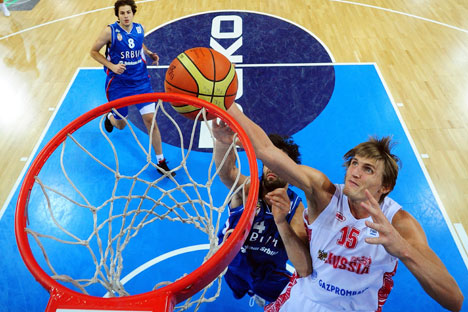 Russia's prominent basketball player Andrei Kirilenko, known by journalists and fans as AK-47. Source: ITAR-TASS