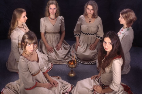 White Light, Russia's folk group founded by six young Muscovites. Source: Press Photo / Elena Rets