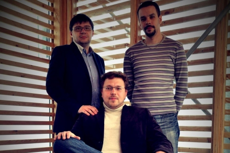 Dmitry Shuvaev, Andrei Klimenko and Alexei Klimenko (L-R) came up with a way to cope with infringement of intellectual property. It remains to be seen whether they succeed. Source: Press Photo