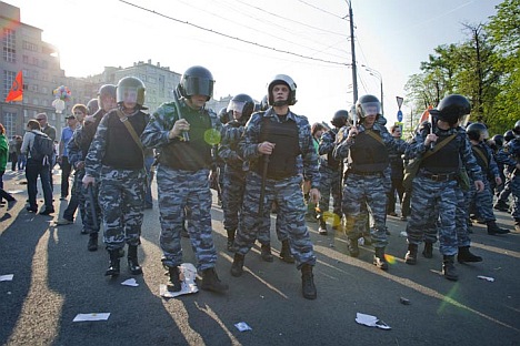 Police officers keep arresting protesters. Source: Ricardo Marquina Montañana / RBTH