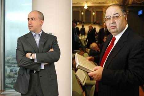 Yuri Milner, left, and Alisher Usmanov, right. Source: Kommersant