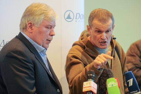 Russian native Vladimir Sadovnichy, right, and Estonian native Aleksey Rudenko, left. Source: ITAR-TASS