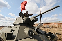 A military pensioner in the village of Bolshoi Oyesh has set up a workshop that builds life-size moving models of World War II tanks and armoured vehicles