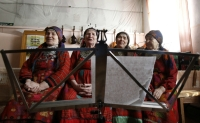 The Buranovskie Babushki,a group of ladies ranging in age from 42 to 86 who sing traditional songs and pop classics in their own language, will represent Russia in the forthcoming Eurovision song contest. Source: Reuters / Vostock Photo