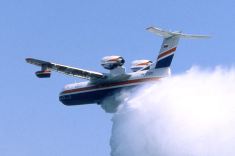 The Be-200, a multipurpose amphibious aircraft made by Taganrog-based Beriev Aircraft Company.