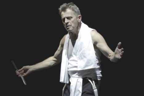 "Russian-American dancer Mikhail Baryshnikov starring in Dmitry Krymov's show ""In Paris"". Source: Maria Baranova / Press Photo"