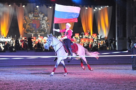 Standard-bearer: The Kremlin School leads the way when it comes to spectacular riding skills. Source: Press Photo