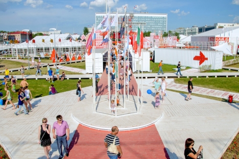 The month-long art festival is being held in Perm from June 1-24. Source: Alexei Zhuravliov
