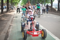 Moscow parks offer summer sports. Gorky park