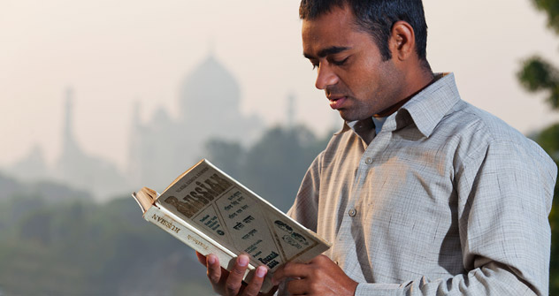 An Indian student reading a Russian textbook. Source: Alamy / Legion Media