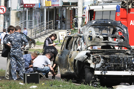 The Tatarstan mufti's service car was blown up in Kazan at 11 a.m. on Thursday, causing fatalities. Source: ITAR-TASS