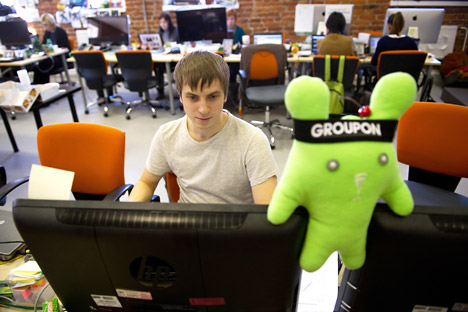 Groupon, Russia's Internet start-up, is qualified as one of the most successful from the point of view of attracting investment. Source: ITAR-TASS
