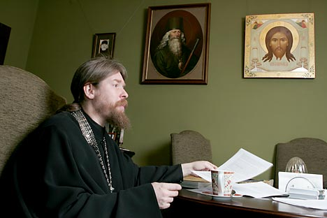 Archimandrite Tikhon Shevkunov, abbot of the small, yet very active Sretensky Monastery. Source: ITAR-TASS