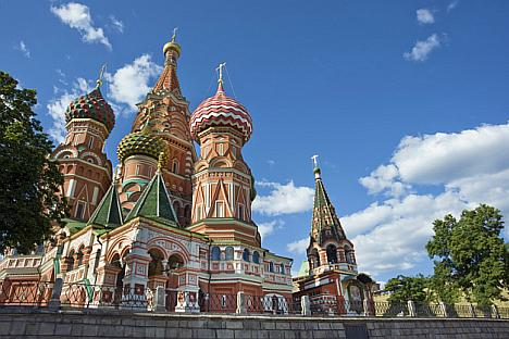 St. Basil's on Red Square, Moscow. All photo by William Brumfield