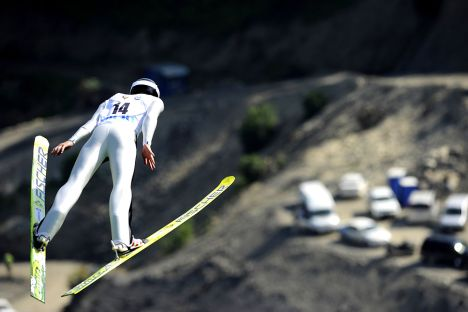 The summer continental ski-jumping competition held at the Krasnaya Polyana ski resort near Sochi. Source: Mikhail Mordasov