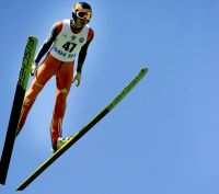 Ski-jumping cup held in the middle of the summer. Source: Mikhail Mordasov