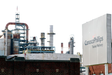 The ConocoPhillips refinery in Trainer, Pa, the U.S. Source: AP